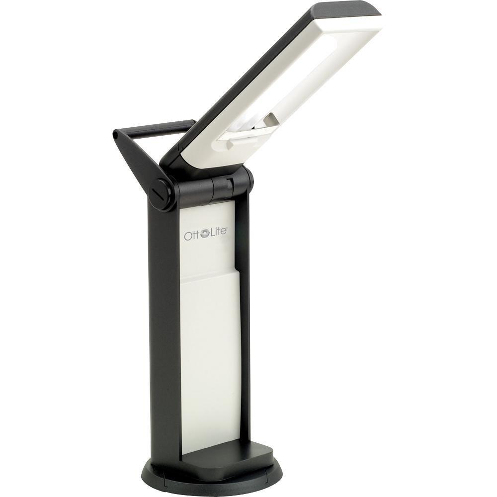 OttLite L139AB 13 Watt Desk Lamp with Swivel Base, Black by OttLite