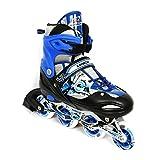 Kamachi K-906 100-percent-cotton-jersey Inline Skates, Large (Blue/White)