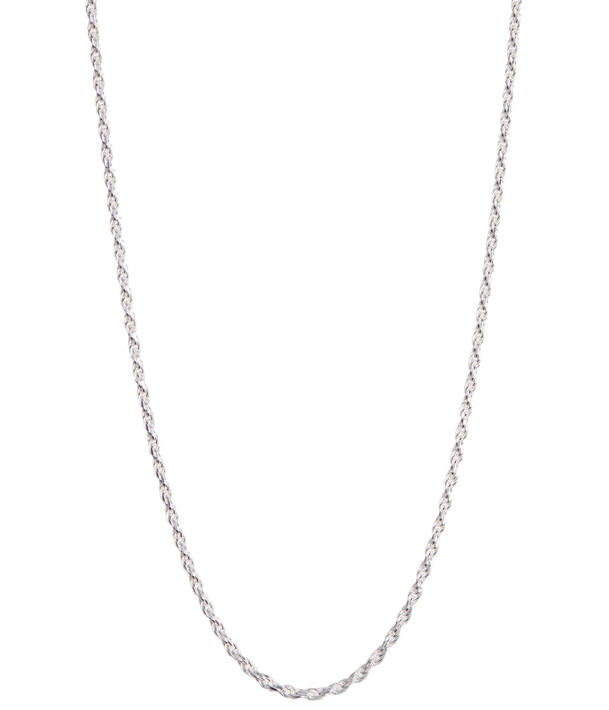 Italian .925 Sterling Silver 1.5mm Rope Chain Necklace (26)