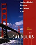 Calculus, Single Variable, Hughes-Hallett, Deborah and Flath, Daniel E., 0471408263