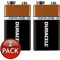 Duracell 9V Duralock Akaline Battery Energizer Coppertop Batteries (2 Pack)
