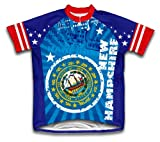 ScudoPro New Hampshire Short Sleeve Cycling Jersey for Men - Size L Blue