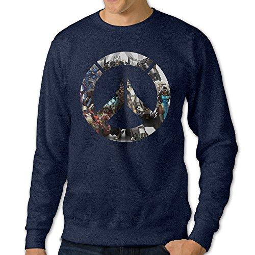 NUBIA Men's OW Logo Long Sleeve Sweater Navy (Adam Gomez Costume)