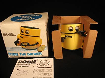 559130317eb8e Amazon.com: VINTAGE ROBIE THE BANKER BATTERY OPERATED: Toys & Games