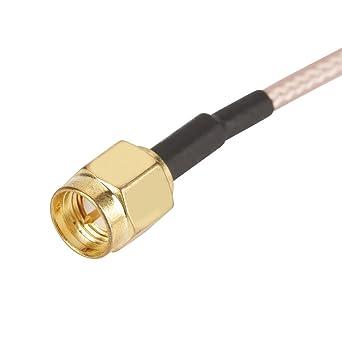2pcs SMA macho a SMA Asamblea de cable coaxial masculino RG316 para adaptador de extensión de antena 50Ω 15cm: Amazon.es: Industria, empresas y ciencia