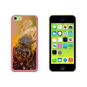 Bee Covered In Pollen On Flower Snap On Hard Protective For SamSung Galaxy S5 Mini Phone Case Cover - Pink