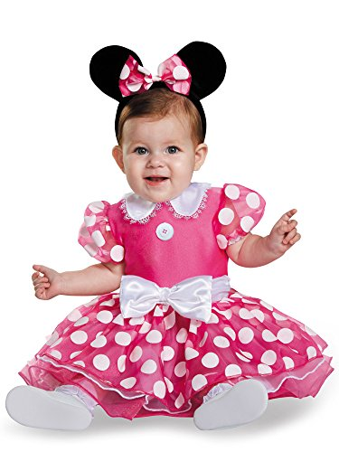 Disguise Baby Girls' Pink Minnie Prestige Infant Costume, Pink, 6-12 Months -