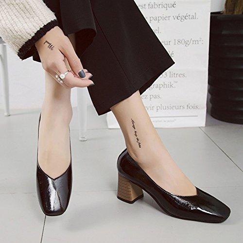 HRCxue Fein mit High Heels Tipp der großen Zahl helle Schuhe sexy Hochzeit Schuhe Frauen arbeiten einzelne Schuhe.