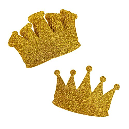 Homeford Glitter Foam Crown Cut-Outs, 2-1/2-Inch, 10-Count (Gold)