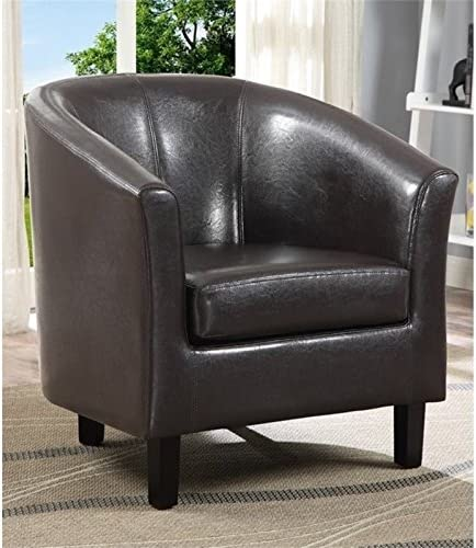 Atlin Designs Faux Leather Tub Chair