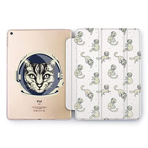 (Wonder Wild Astronaut Cat Apple iPad Pro Case 9.7 11 inch Mini 1 2 3 4 Air 2 10.5 12.9 2018 2017 Design 5th 6th Gen Clear Smart Hard Cover)