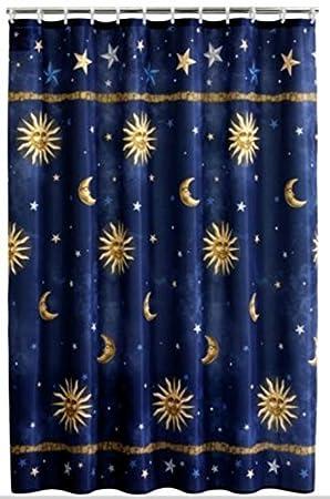 amazon sun moon stars シャワーカーテン 丈夫なシャワーリングと