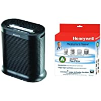 Honeywell HPA200 True HEPA Allergen Remover, 310 sq. ft. & Honeywell HRF-AP1 Filter A Universal Carbon Pre-filter, Pack of 1