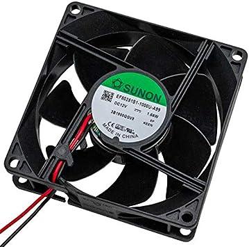 Fan Ventilador 12V 1,44W 80x80x25mm 69,6m³/h 33dBA ; Sunon ...