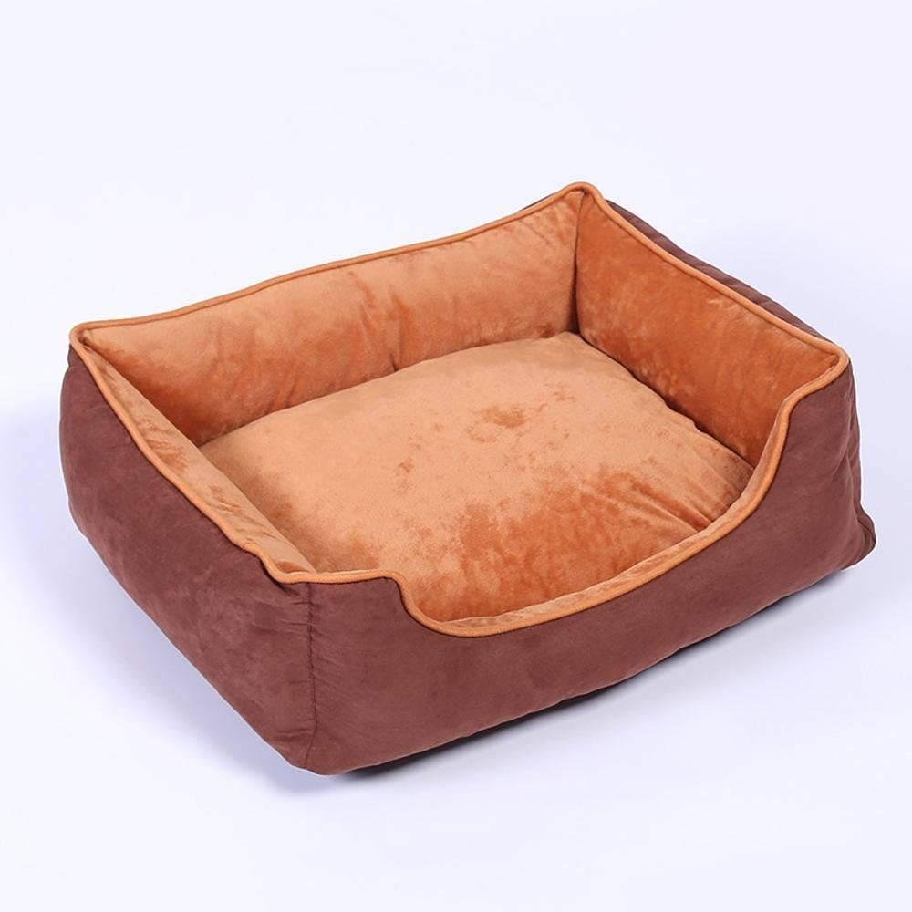 A XLargeGperw Suede Velvet antislip plastic kennel Four Seasons available pet nest warm pet Nest dog mat Non Slip Cushion Pad (color   A, Size   XLarge)
