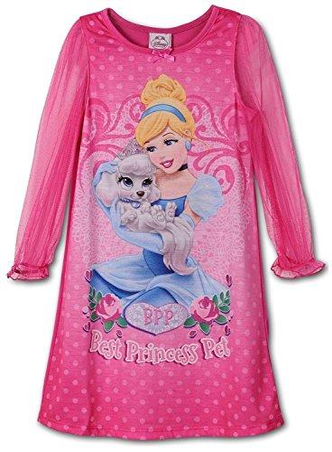 Disney Little Girls Cinderella Palace Pets Gown Long Sleeve K157452PN 2T (Cinderella Brand Girls Dresses)