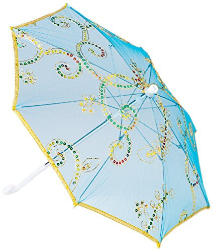 KINDEN Cute Costume Dress up Parasol Umbrella for Custom Made Pretend Play - Great for Kids Costumes (Blue) -