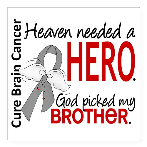 CafePress - Brain Cancer Heaven Need Square Car Magnet 3