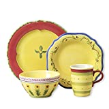 Pfaltzgraff Pistoulet Red 16 Piece Dinnerware Set, Service for 4