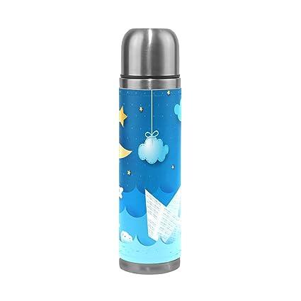 Amazon.com: deyya dibujos animados luna barco botella de ...