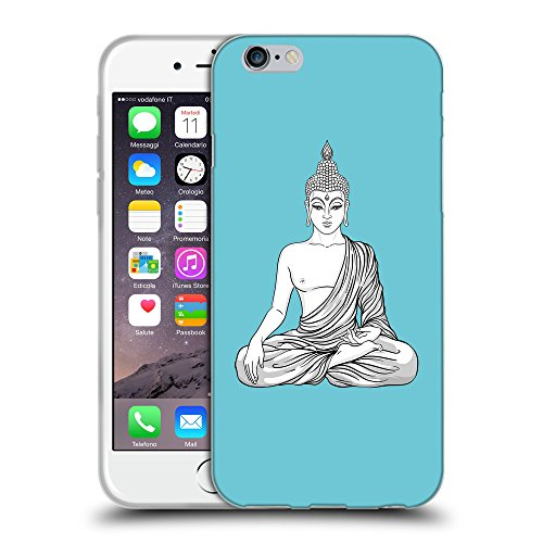 GoGoMobile Coque de Protection TPU Silicone Case pour // Q07720627 Bouddha 8 Cyan // Apple iPhone 7