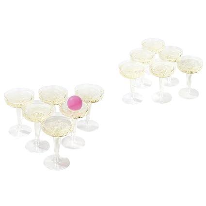 Invero® Prosecco Fizz Pong Set Divertido Adultos Juego de Beber – Contiene 12 x Gafas