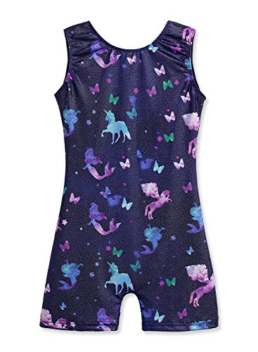 - Gymnastics Leotards for Girls 5t Size 5-6 Unicorn Starry Sky Stars Mermaid Horse