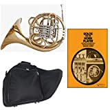 Band Directors Choice Double French Horn Key of F/Bb - Solos for the Horn Player Pack; Includes Intermediate French Horn, Case, Accessories & Solos for the Horn Player Book