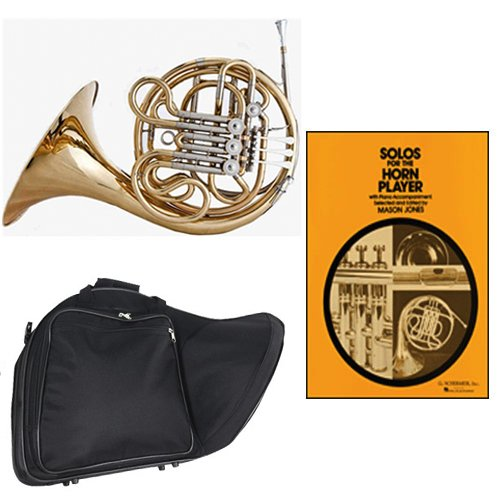Band Directors Choice Double French Horn Key of F/Bb - Solos for the Horn Player Pack; Includes Intermediate French Horn, Case, Accessories & Solos for the Horn Player Book by Double French Horn Packs