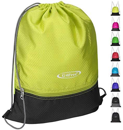 G4Free Drawstring Backpack Sports Gym Bag Pull String