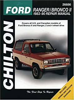 Haynes automotive repair manual ford ranger bronco ii 1983 thru ford rangerbronco ii 1983 90 repair manual chiltons total car care fandeluxe Image collections