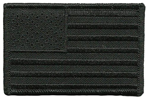 Tactical USA Flag Patch - All-Black