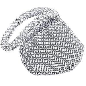 Hysagtek Women Bling Sequins Zipper Pouch Small Wedding Engagement Evening Party Bag Purse Wristlet Clutch Bag Pouch…