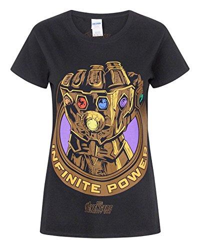 Avengers Infinity War Marvel Thanos Infinity Gauntlet Women's T-Shirt (L)