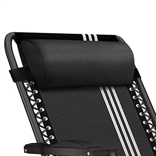 Universal Replacement Pillow headrest for Zero Gravity Chair with Elastic Band, Removable Padded headrest Pillow for Zero Gravity Chairs, Lounge Chair (Black) (Pillows Lounge Chair)