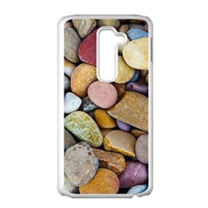 Colorful Little Stones White Phone Case for LG G2