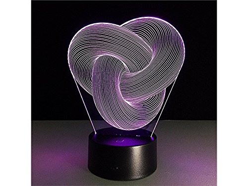 USB Lamp 3D Three Rings LED Light Figure Illusion 7 Color Changing Smart Touch USB Table Desk Lamps Yunqir