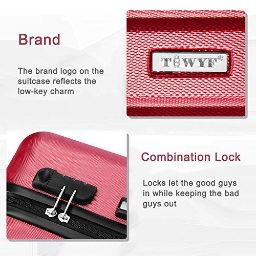 TBWYF Luggage Set 3 Piece Set Suitcase set Spinner Hard shell Lightweight