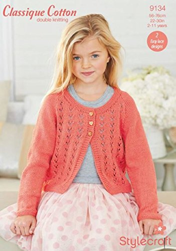 Stylecraft Childrens Cardigans Classique Cotton Knitting Pattern