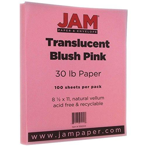Blush Vellum (JAM Paper Translucent Vellum Paper - 8.5