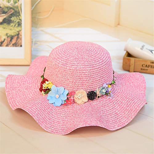 1156c1ce FEDULK Women Sun Beach Straw Hat Jazz Sunshade Big Wide Brim Elegant Panama  Fedora Hat Wreath