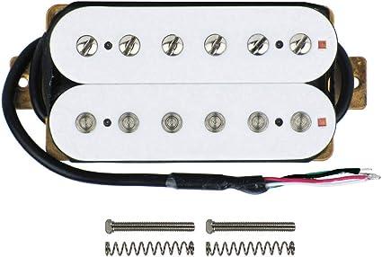 Amazon.com: FLEOR Electric Guitar Pickup Double Coil Humbucker Pickups 52mm  Ceramic Bridge Pickup - White: Musical InstrumentsAmazon.com