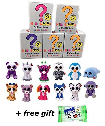 TY Mini Boo Set of 5 Hand Painted Collectible Figurines (SERIES 2) Blind Boxes