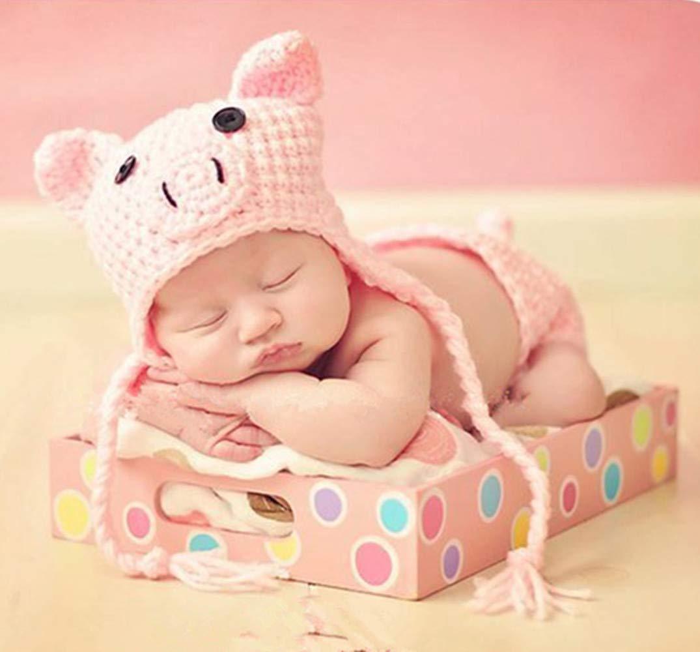 Annetech Infant Newborn Photography Prop Photo Crochet Boys Girls Knit Toy Pig Hats by Annetech