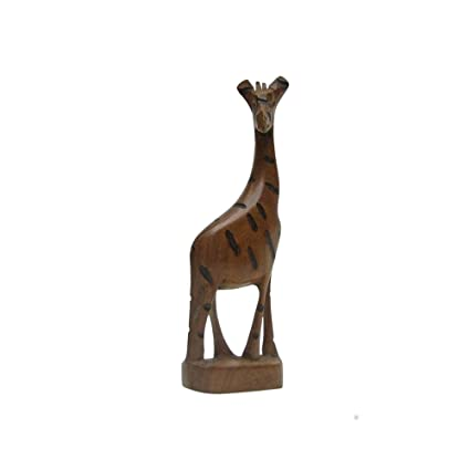 Amazoncom Hand Carved Wooden Giraffe Made In Africa Nautical
