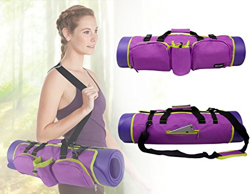 Yoga Mat Bag With Pockets To Hold Your Other Supplies! Yoga Bag, BRAND NEW! 3 Colors Available! (yellow)