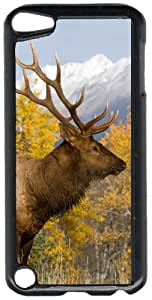 Big Game Deer In Field Scene Black Plastic Decorative iPod iTouch 5th Generation Case