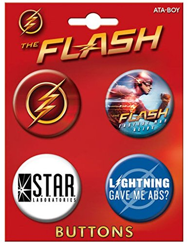 "Ata-Boy The Flash on CW Assortment #2 Set of 4 1.25"" Coll..."