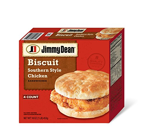 Jimmy Dean, Southern Style Chicken Biscuit Sandwiches, 4 ct (frozen)
