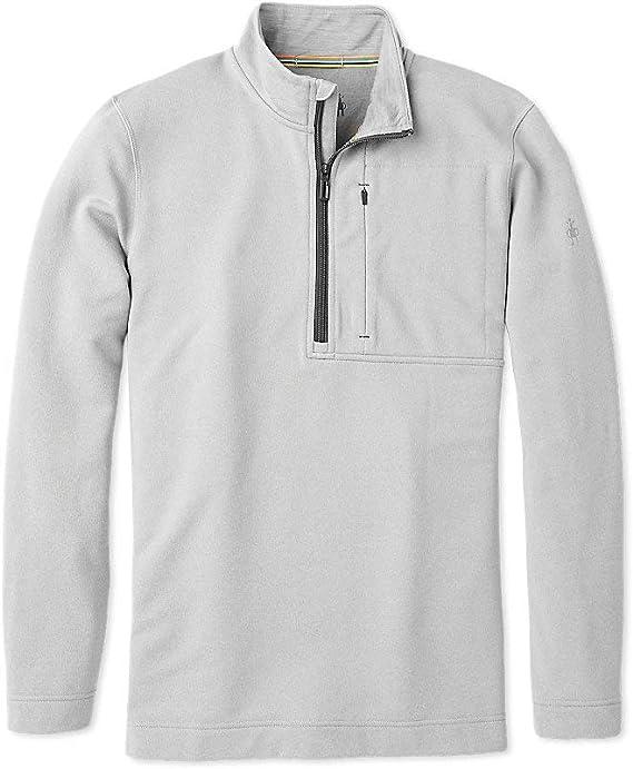 Men/'s /½ Zip Performance Pullover Pine Gray Heather Medium SmartWool Merino Sport Wool Fleece
